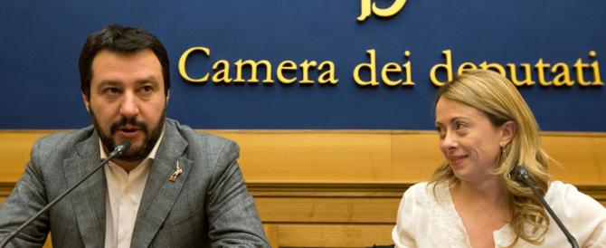 Incontro Salvini Meloni alla Camera: «Cresce l'alternativa al renzismo»
