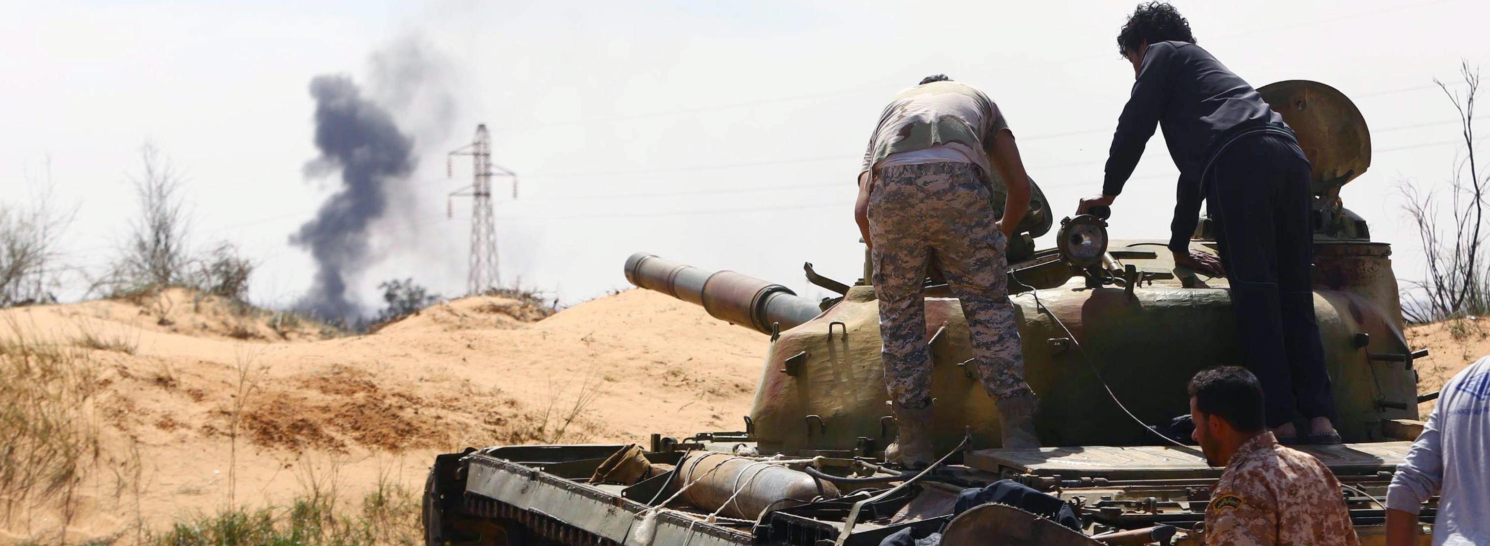 Un'immagine di guerra a Tripoli