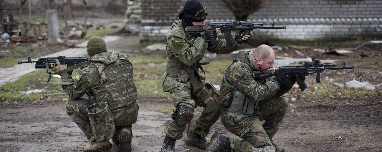 Truppe ucraine nel Donbass
