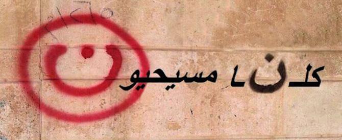 Iraq, sfida degli esuli cristiani all'Isis: la N del Nazareno dipinta sulle tende