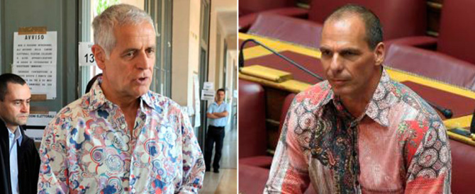 Formigoni tifa Varoufakis: «Sulle camicie io e lui andiamo d'accordo»