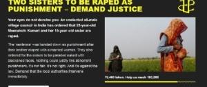Un'altra follia in India: due sorelle condannate ad essere stuprate