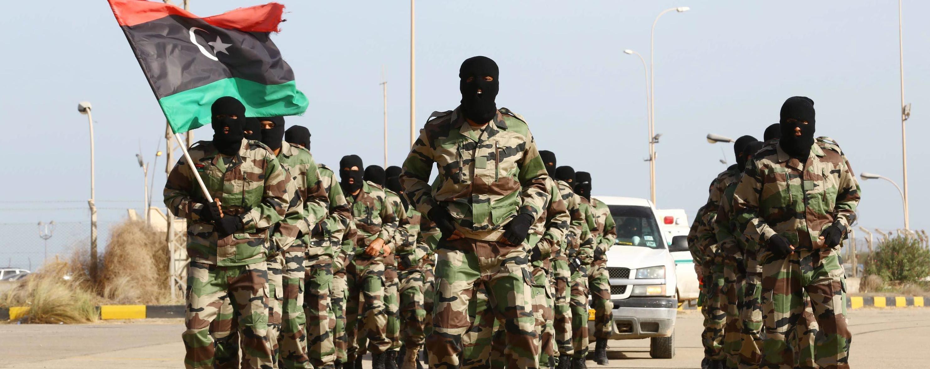 Sfilata dell'esercito libico