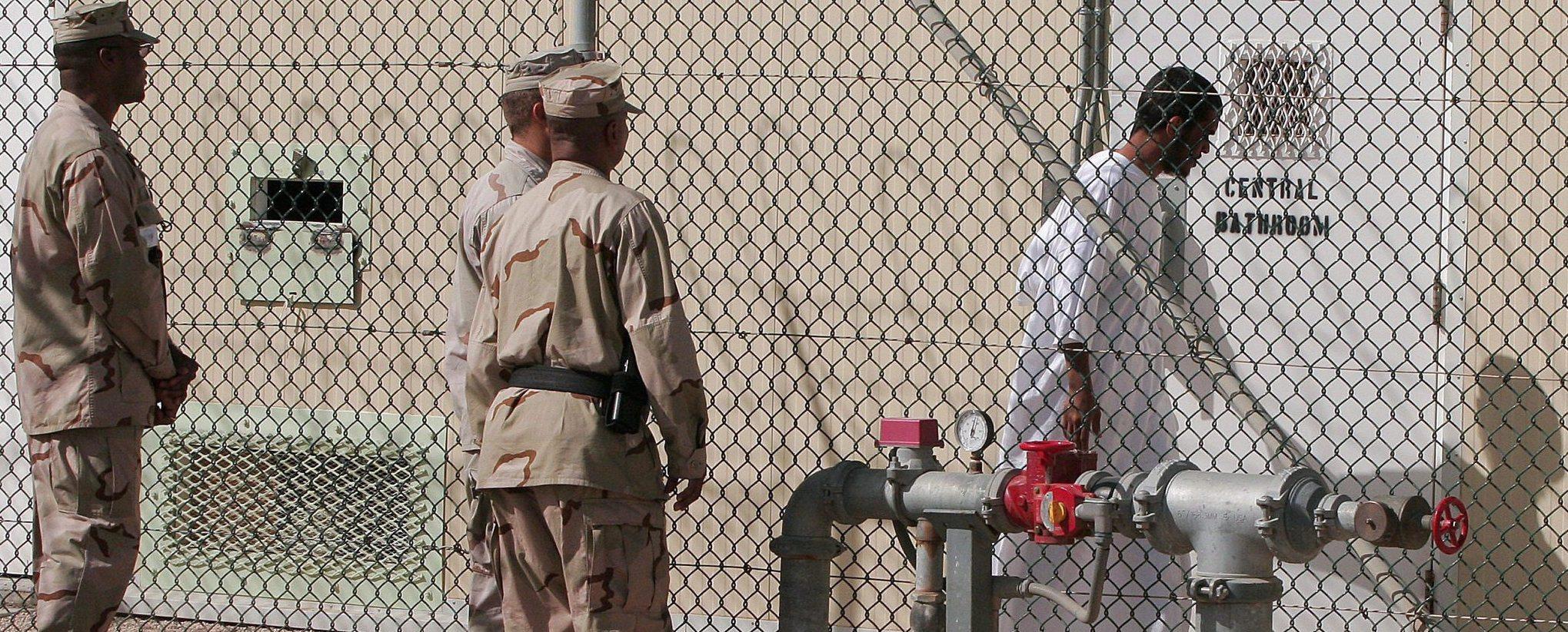 Un'immagine della prigione di Guantanamo