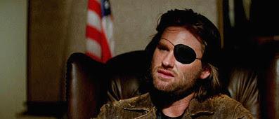 """Kurt Russell in """"1997 fuga da New York""""."""