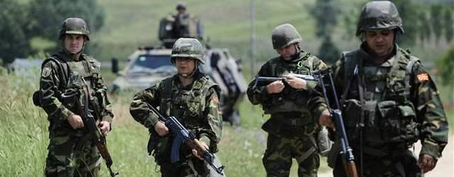 Soldati macedoni in azione