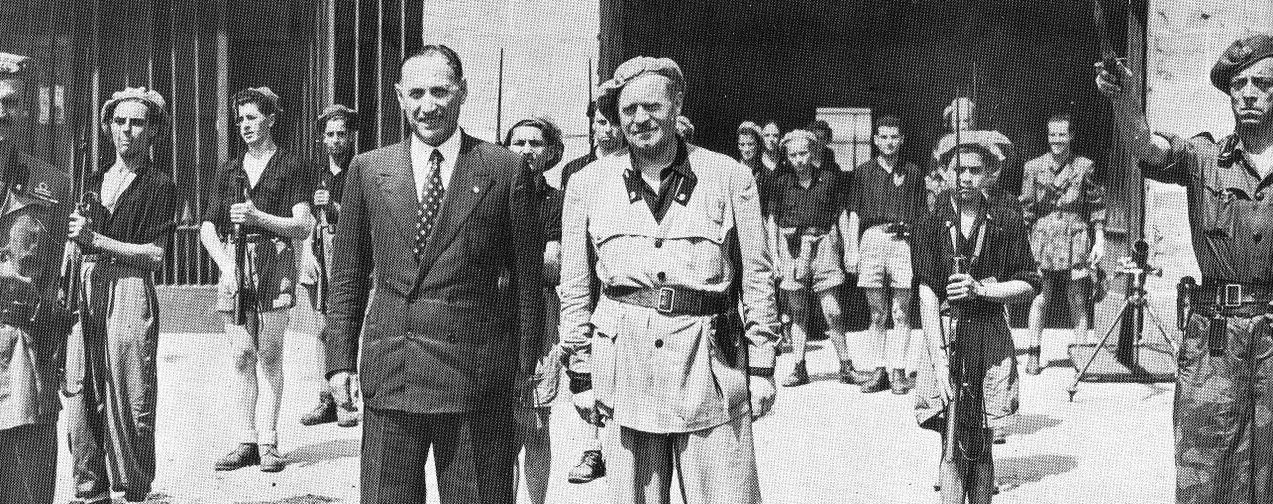 """Piero Parini con il comandante della """"Muti"""" Francesco Colombo"""
