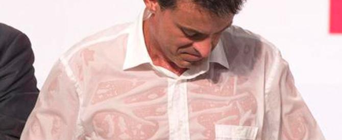 Per il socialista Valls la gloria è tutta… in una camicia fradicia di sudore
