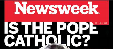 """Copertina-shock negli Usa: """"Ma Papa Bergoglio è davvero cattolico?"""""""