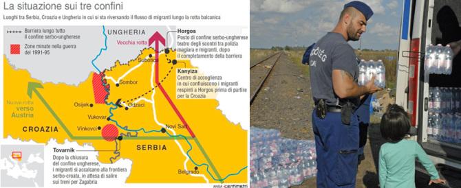 Immigrati, è scontro tra Croazia e Ungheria. Attesi altri quarantamila