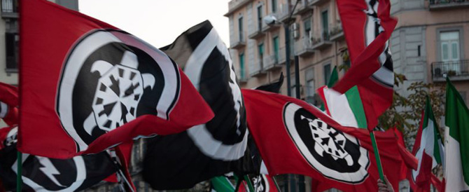Festa di CasaPound a Milano. E per magia appare il Comitato antifascista