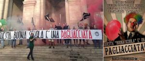 """CasaPound batte tutti: sono i primi in piazza contro la """"buona scuola"""""""