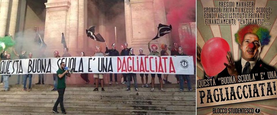 La manifestazione del Blocco Studentesco