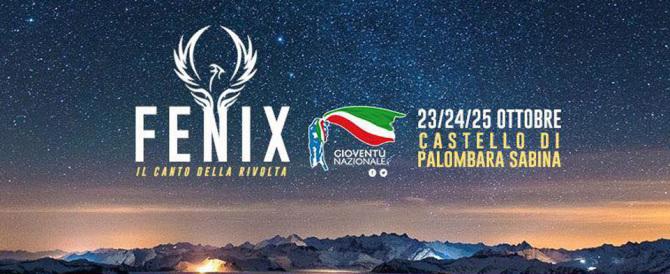 """""""Fenix"""", al via il campo di Gioventù nazionale: analisi, politica e musica"""