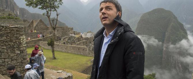 Nella città degli Inca, Matteo Renzi si veste da profeta e si proclama statista
