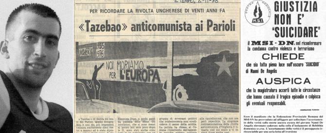 37 anni fa l'addio a Nanni De Angelis: giustizia non è stata fatta, non fu suicidio