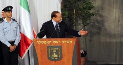 Berlusconi interviene per Israele: «Impossibile l'equidistanza»