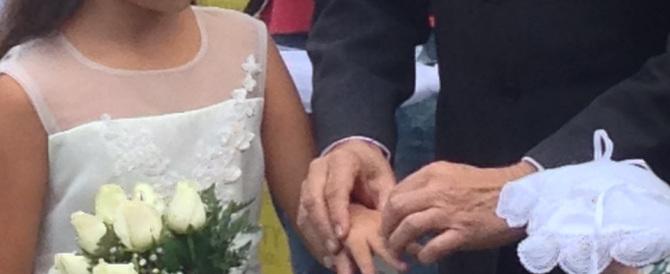 Spose bambine. Al Pantheon le nozze: lei ha 10 anni, lui 50. Ma è una fiction