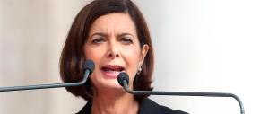 """La Boldrini """"attacca"""" Renzi davanti a Letta e Bersani: «La politica non sia slogan»"""