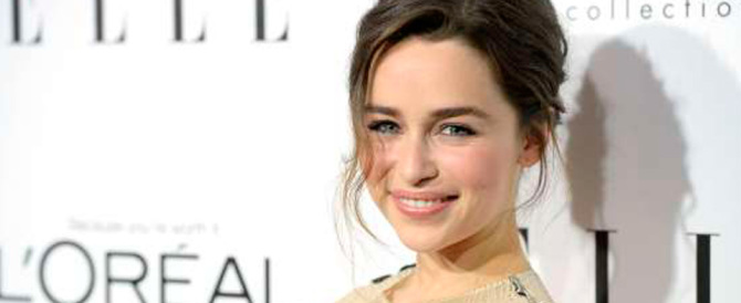 """Emilia Clarke, dal """"Trono di Spade"""" a quello di donna più sensuale al mondo"""