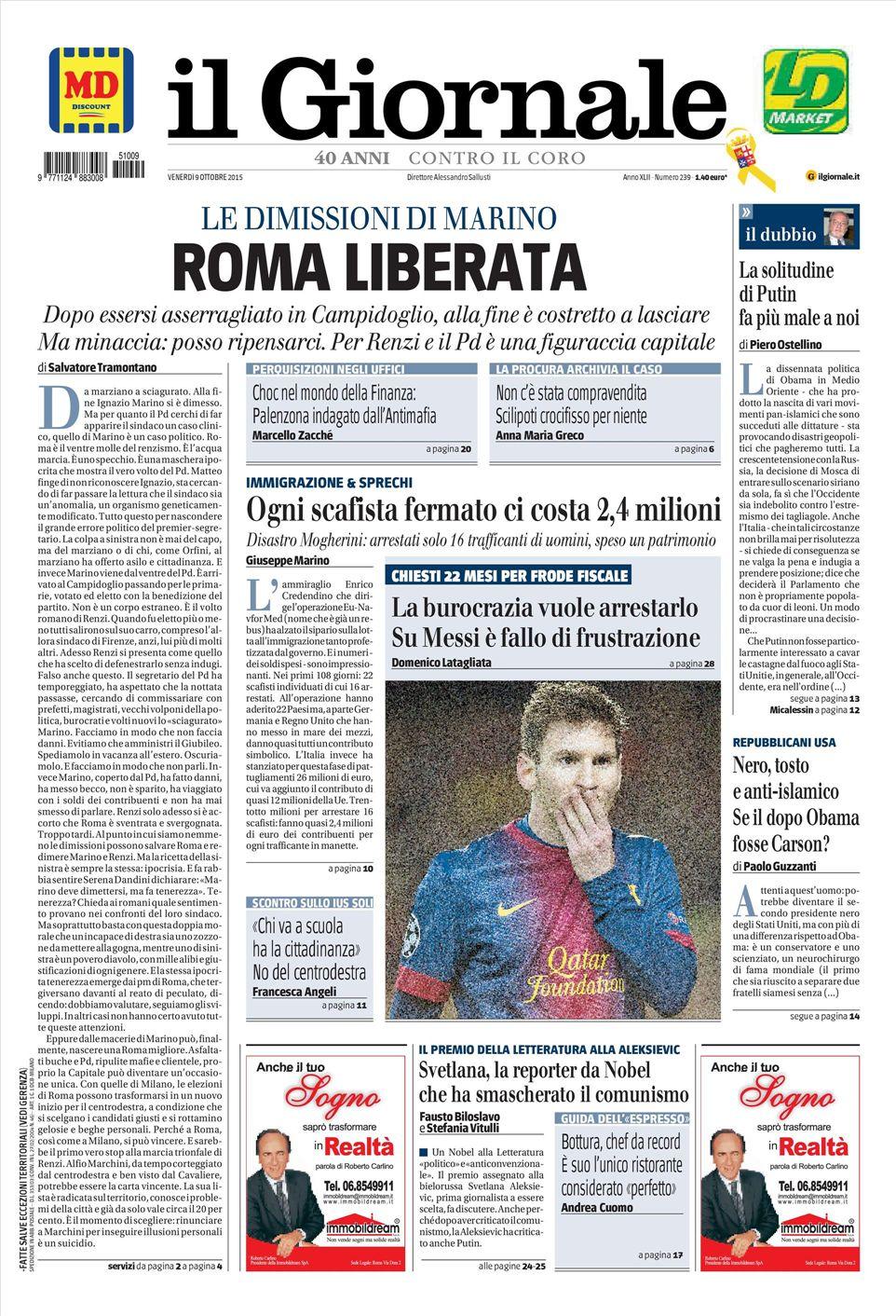 056009b97e Avvenire Corriere della Sera Fatto quotidiano Il Foglio il Giornale ...