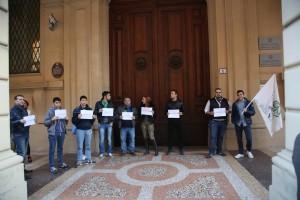 Il presidio a Bologna
