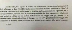 E sulle casse del Comune Marino caricò anche una consumazione da 8 euro