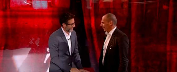 """24mila euro al """"compagno"""" Varoufakis per andare in tv: è rivolta contro Fazio"""