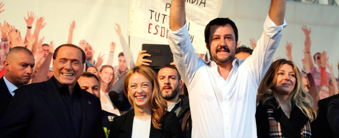 Berlusconi-Meloni-Salvini, se vince il fronte del No l'Italia tornerà protagonista