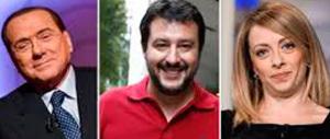 """Salvini a Meloni e a Berlusconi: """"Riconquistiamo gli italiani schifati"""""""