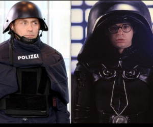 Poliziotto tedesco o Guerre Stellari? L'agente bavarese assomiglia…