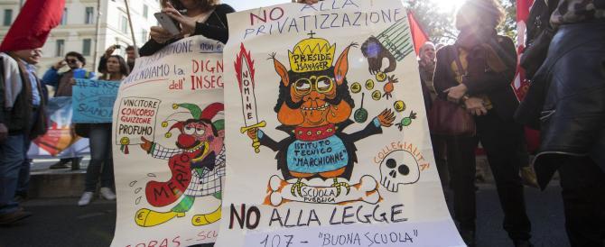 Scuola, insegnanti e studenti in piazza: al via l'autunno caldo di Renzi