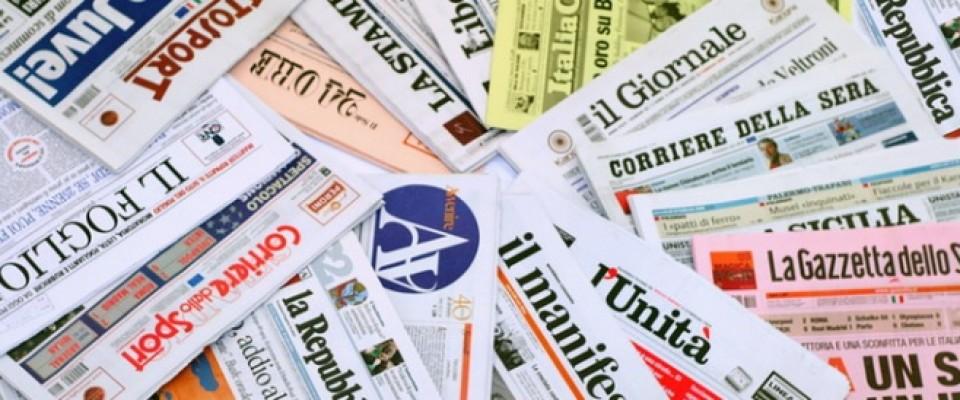Le prime pagine dei quotidiani che sono in edicola oggi 1 dicembre 2015