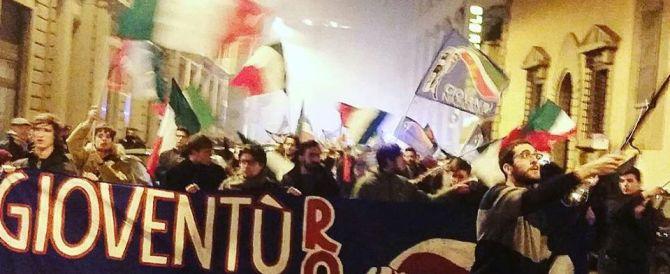 Gioventù nazionale in corteo a Firenze contro Renzi, marionetta delle banche