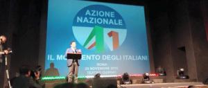 Azione nazionale: «A Roma e Milano appoggiamo il centrodestra»