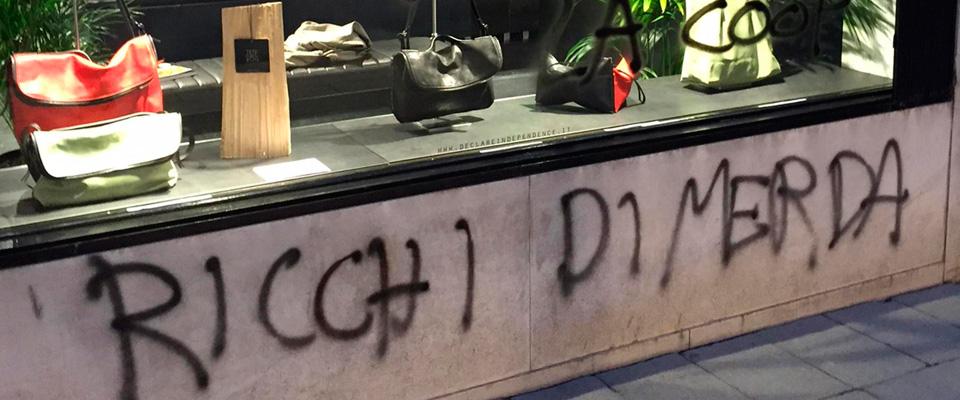 A Venezia un sabato di ordinaria anarchia: teppisti rossi in azione