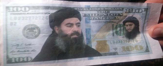 Ed ecco il faccione di al-Baghdadi su biglietti da 100 dollari. Falsi