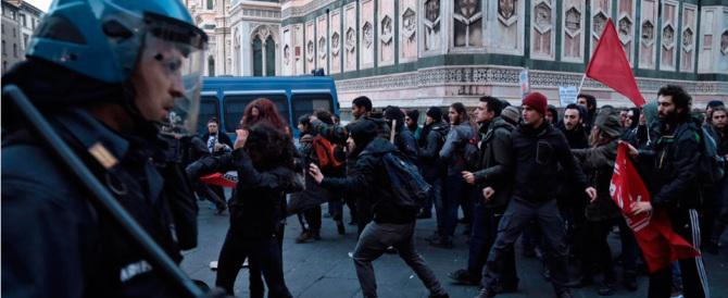 Firenze, antifascisti contro polizia per impedire il corteo di Casaggì e FdI