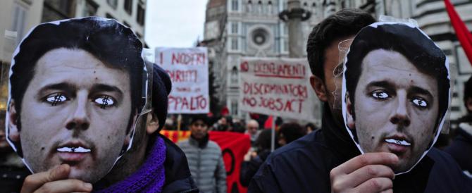 Leopolda assediata dalle proteste: il corteo dei No-Renzi bloccato dalla polizia