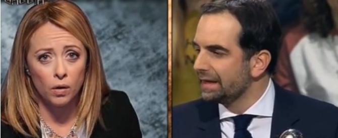 Giorgia Meloni attacca il Pd: «Avete dato soldi solo ai banchieri» (Video)
