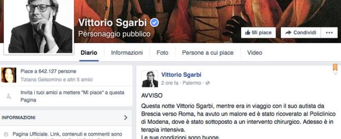Malore per Vittorio Sgarbi, operato d'urgenza: è in terapia intensiva