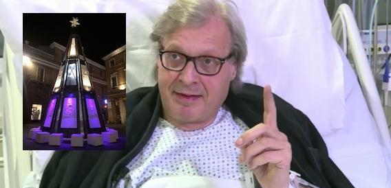 L'albero non gli piace: Sgarbi si dimette da assessore a Urbino (dall'ospedale)