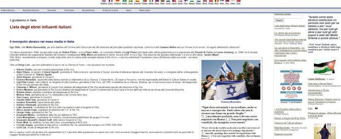 """Una """"blacklist"""" degli ebrei sul web. Tra i nomi Mieli, Lerner, De Benedetti"""