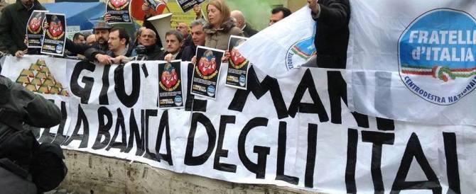 Pensionato suicida, scatta l'inchiesta. Fratelli d'Italia: «Visco si dimetta»
