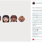 Ecco come Kim ha annunciato la nascita del figlio. Ora lancia una sua linea di disegnini... (Foto Instagram)