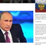 La recentissima conferenza stampa di Putin.  (Foto Twitter)