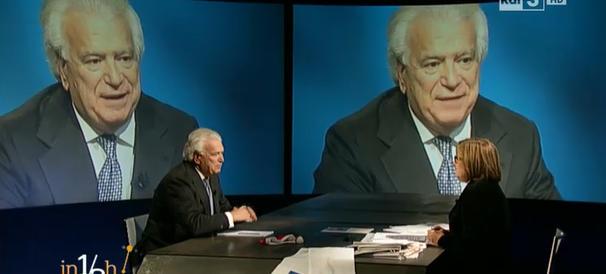 """Verdini """"il bancarottiere"""" in tv fa l'avvocato difensore della Boschi"""