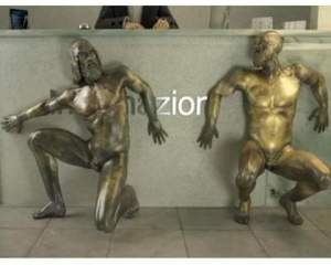 I bronzi di Riace durante la visita di Rohani...