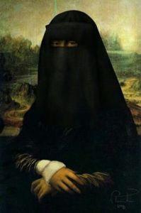 La Gioconda con burqa... Arriveremo a questo?