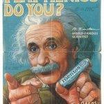 Einstein ha pubblicizzato le Mentos? Sì, ma nel 2005, in India. E' un falso. (Foto Twitter)